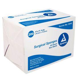 """100% Cotton Gauze Sponge, Non-Sterile, 4"""" x 4"""", 8Ply - 4000/Case"""