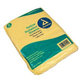 Isolation Gown Universal Non-Sterile Yellow - 50/Case
