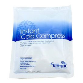 """Instant Cold Compress, 5"""" x 6"""", Plastic Backing - 50/Case"""