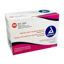 Latex Surgical Gloves, Size 7, Powder-Free - 50/Box
