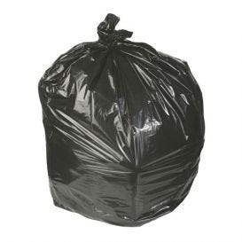 """Waste Can Liner Black 45 Gallon 1.8mil 40"""" x 46"""" - 100/Case"""