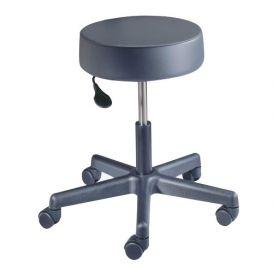 Value Plus Exam Stool, Pneumatic Lift with Backrest, Gunmetal -