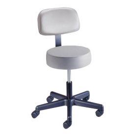"Value Plus Exam Stool, Spin Lift with Backrest, 17"" - 21.25"", Azure Blue -"