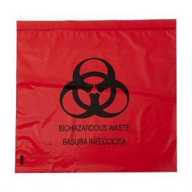 "Biohazard Red Bag 24"" x 24"" 10 Gallon 1.2 mil - 500/Case"