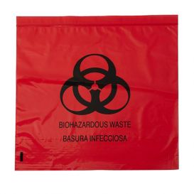 "Biohazard Red Bag 17"" x 17"" 4 Gallon 1.5 mil - 500/Case"
