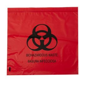 "Biohazard Red Bag 24"" x 26"" 10 Gallon 1.5 mil - 200/Case"