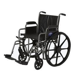 """Wheelchair 20"""" Swing Footrest and Armrest"""