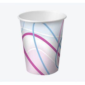 Disposable Paper Cups, 5 oz, Contemporary Design - 100/Box