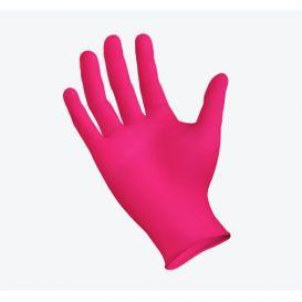 StarMed® ROSE Nitrile Exam Gloves w/Aloe & Vitamin E, Medium, Powder-Free - 200/Box