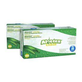 Aloetex™ Latex Examination Gloves with Aloe, Medium, Powder-Free, Green - 100/Box