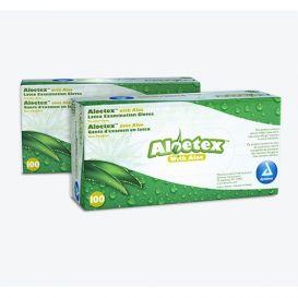 Aloetex™ Latex Examination Gloves with Aloe, Large, Powder-Free, Green - 100/Box
