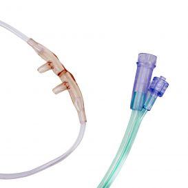 Adult Dual Nasal Cannula, 10', Male Luer-Lok Connector - 25/Case