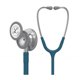 "Littmann® Classic III™ 27"" Monitoring Stethoscope w/Caribbean Blue Tube and Machined Stainless Steel Chestpiece Finish"