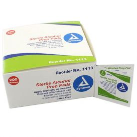 Alcohol Prep Pads, Medium, Sterile - 200/Box