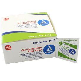 Alcohol Prep Pads, Medium, Sterile - 200/Box
