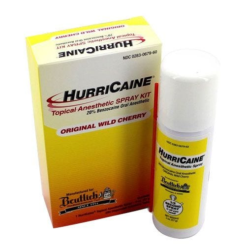 HurriCaine Topical Anesthetic Spray Kit 20 Benzocaine 2 oz Aerosol Can w200  Extension Tubes Wild Cherry | Southern Anesthesia & Surgical, Inc.