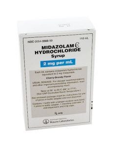 Midazolam HCl (Versed) Syrup, 2mg/ml 118ml Bottle