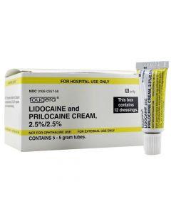 Lidocaine and Prilocaine Cream, 2.5%/2.5%, 5 x 5gm Tube