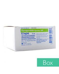 Glycopyrrolate (Robinul®) 0.2mg/ml 1ml Single Dose Vial - 25/Box
