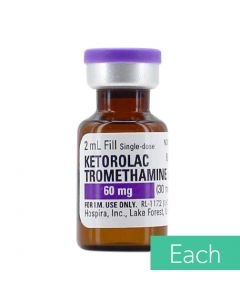 Ketorolac Tromethamine (Toradol®) 30mg/ml (60mg/2ml) 2ml Single Dose Vial - Each