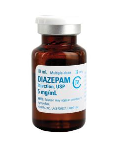 Diazepam 5mg/ml 10/ml Vial