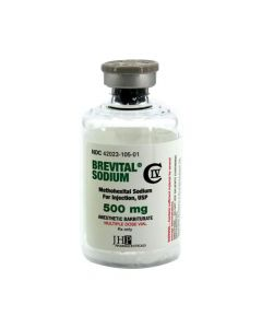 Brevital® Sodium (Methohexital Sodium) 500mg 50ml Multiple Dose Vial