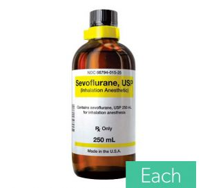 Sevoflurane (Ultane®) Inhalation Anesthetic, 250ml Glass Bottle