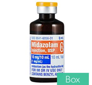 Midazolam HCl (Versed) 1mg/ml 10ml Vial, - 10/Box