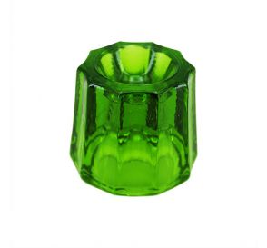 Glass Dappen Dish Green