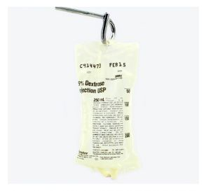 5% Dextrose, 250ml Plastic Bag for Injection