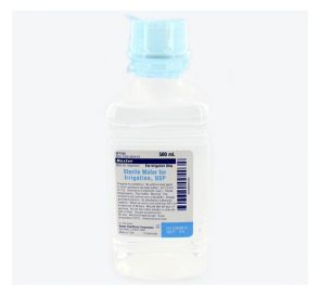 Sterile Water for Irrigation 500ml Plastic Pour Bottle