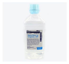 Sterile Water, 1000ml Plastic Pour Bottle for Irrigation