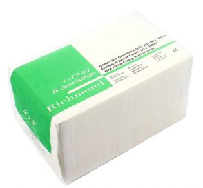 "All-Gauze Sponges, 4"" x 4"", 8-Ply, Non-Sterile, 200 Sponges/Box"