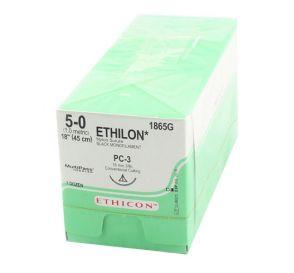 "ETHILON® Nylon Black Monofilament Non-Absorbable Suture, 5-0, PC-3, Precision Cosmetic-Conventional Cutting PRIME, 18"""