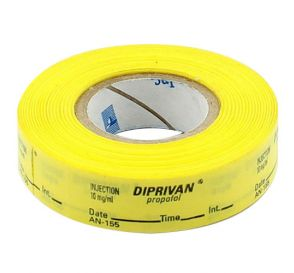 Diprivan®/Propofol Labels, Yellow, Perforated Tape Style