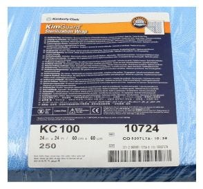 "KIMGUARD ONE-STEP Sequential Sterilization Wrap, 24"" x 24"""