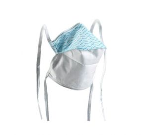 Filtron™ High-Performance Tie-On Surgical Mask, Duckbill Style, Blue