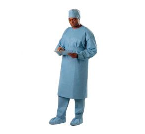 Isolation Gown, Universal, Non-Sterile, Blue