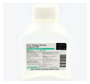 Sodium Chloride 0.9% 500ml Plastic Irrigation Container - 16/Case