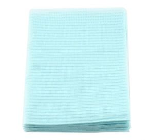 "Econoback® Patient Towels, 2-Ply Tissue with Poly, 19"" x 13"", Blue"