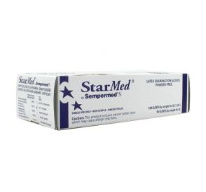 StarMed® Exam Gloves, Small, Latex, Powder-Free, Textured