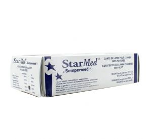 StarMed® Exam Gloves, Large, Latex, Powder-Free, Textured