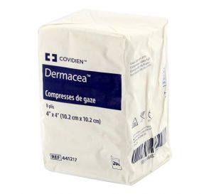 """Dermacea Gauze Non-Sterile 4"""" x 4"""" 8Ply"""