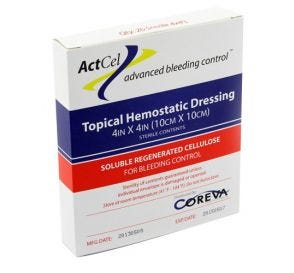 """ActCel® Topical Hemostatic Dressing, 4"""" x 4"""", Sterile"""