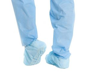 X-TRA TRACTION Shoe Cover, X-Large, Blue