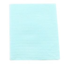 """Sani-Tab® Chain-Free® Patient Towels, 2-Ply Tissue with Poly, 19"""" x 13"""", Blue"""