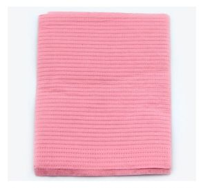"""Sani-Tab® Chain-Free® Patient Towels, 2-Ply Tissue with Poly, 19"""" x 13"""", Dusty Rose"""