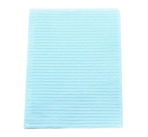 "Polyback® Patient Towels, 3-Ply Tissue with Poly, 19"" x 13"", Blue"