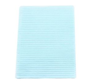 """Poly-Gard® Patient Towels, 3-Ply Tissue with Poly, 19"""" x 16"""", Blue"""