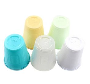 Plastic Cups, 5 oz, White